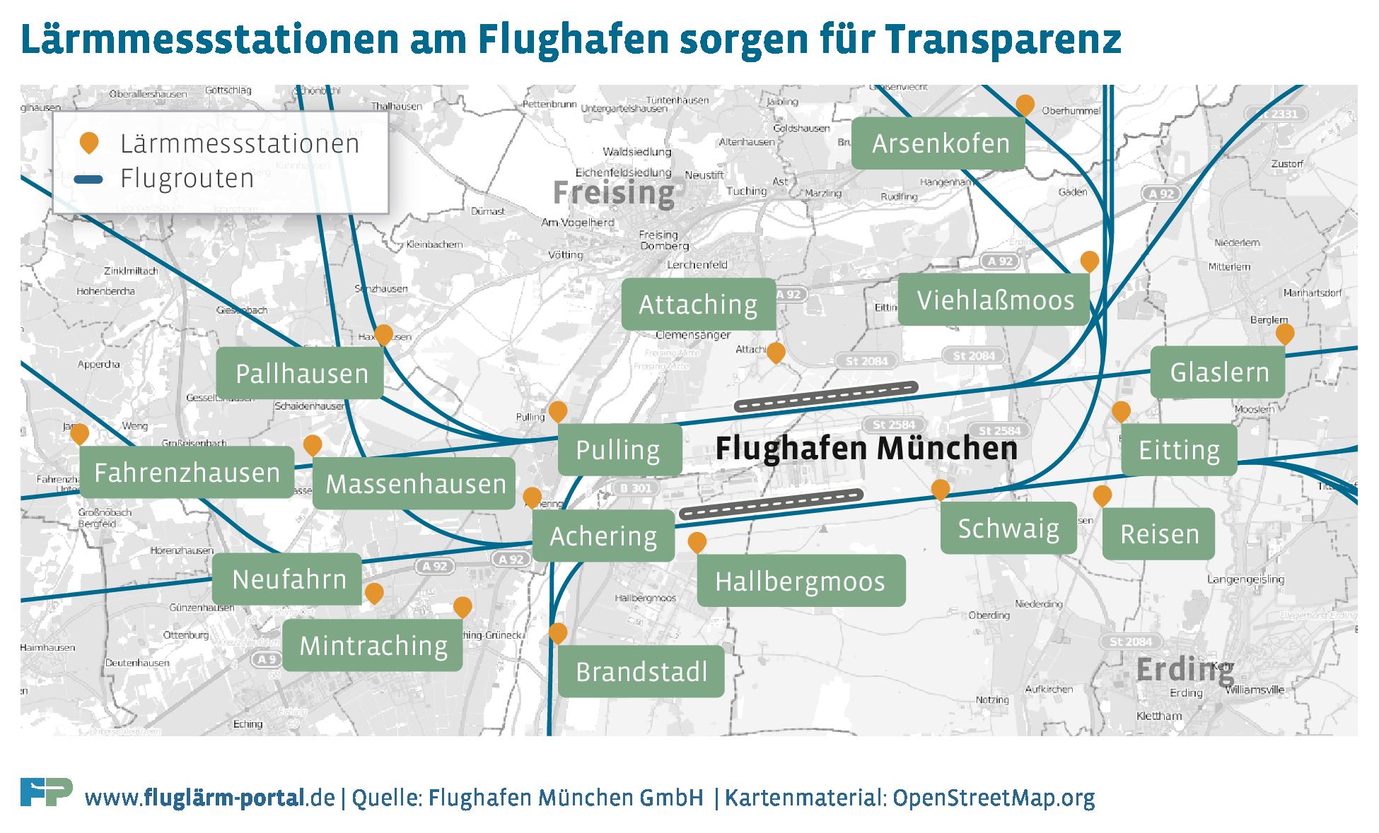 Flugrouten Karte Weltweit Lufthansa.Larmmessung Am Flughafen